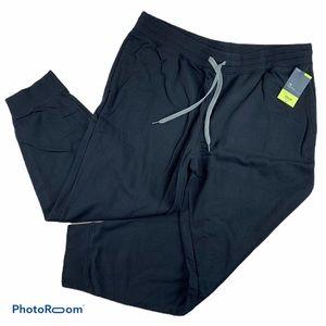 Xersion Mens Jogger Black Fleece Sweatpants XXL